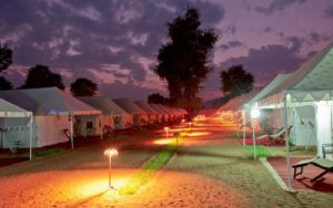 Desert camping at pushkar mela