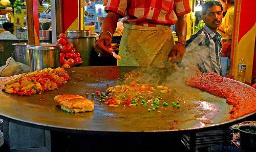 Pav Bhaji, a known street food of Mumbai