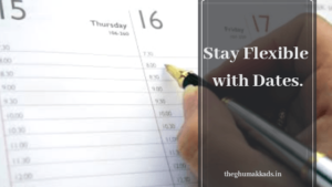 Stay Flexible with dates