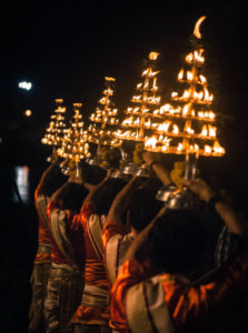 Glimpse of Ganga aarti at varanasi