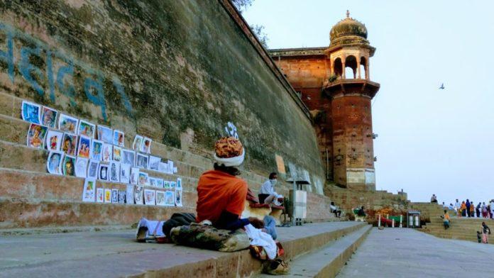 A sadhu at Ghat in Varanasi