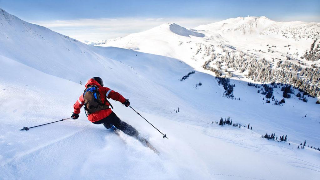 Skiing in india