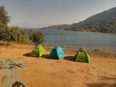 Image of camps at Bhandardara