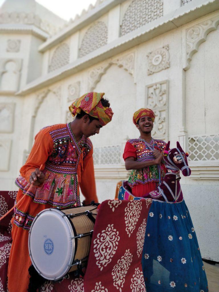 Image of People welcoming with music at Runn Utsav
