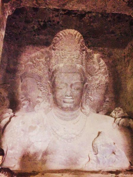 Image of Elephanta Caves situated in Maharashtra, India