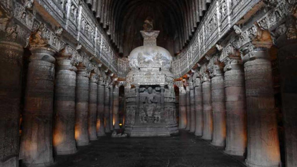 Image of Ajanta Caves located at Aurangabad